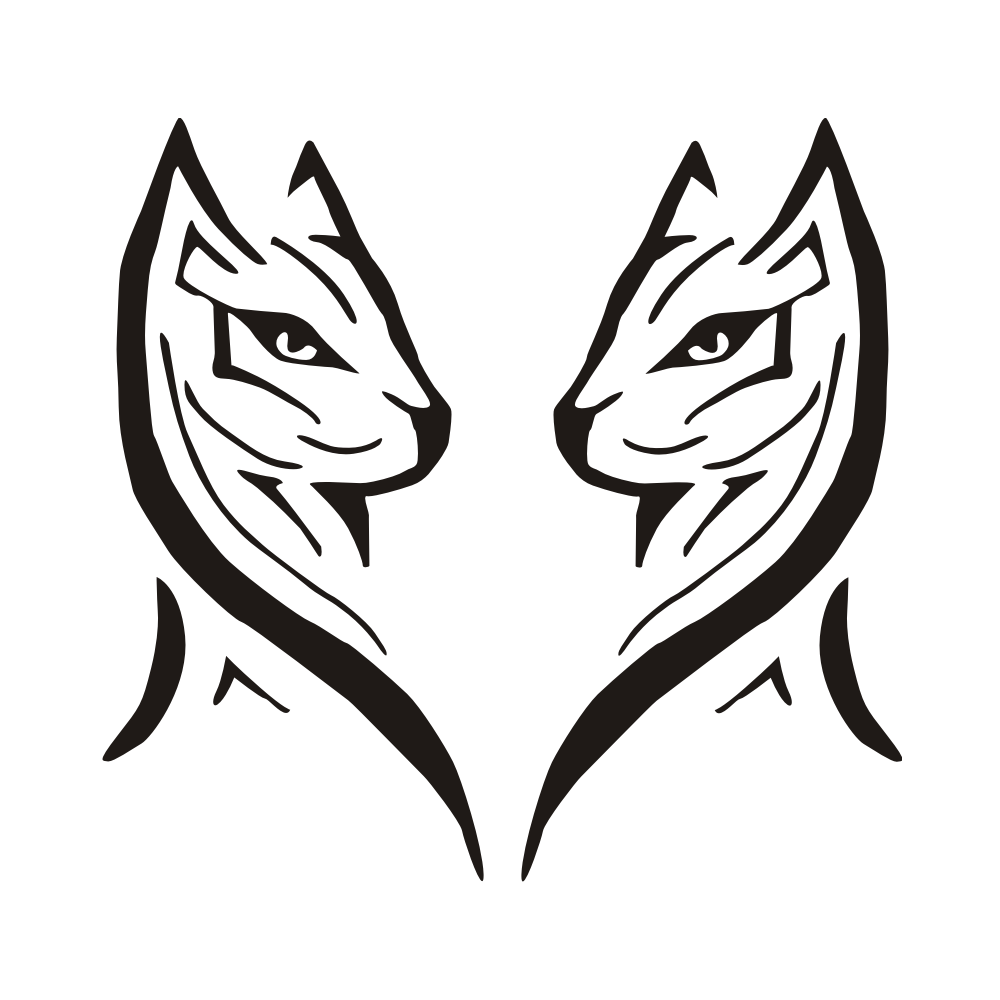 tattoo katze tribal Aufkleber Autoaufkleber A788 Katze Gothic Auto Tribal