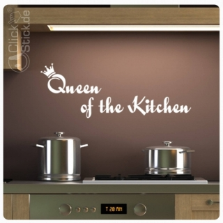 W929 Wandtattoo Queen of the Kitchen Wandaufkleber K�che Lounge