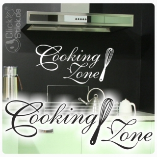 W917 Wandtattoo Cooking Zone Wandaufkleber K�che Kaffee Sticker