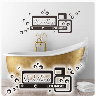 W1005 Wandtattoo Wellness Lounge Wandaufkleber Bad WC