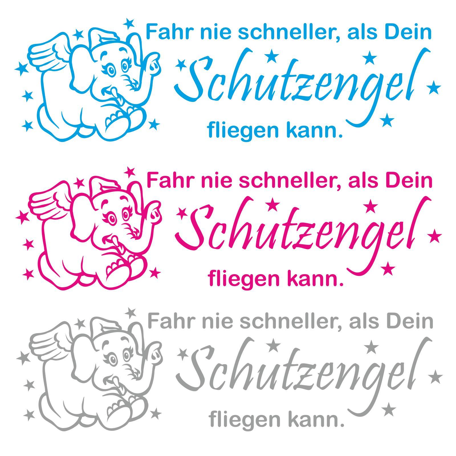 Inspirierend Schutzengel Sprüche Referenz Von Engel Angel Elefant Spruch Auto Aufkleber