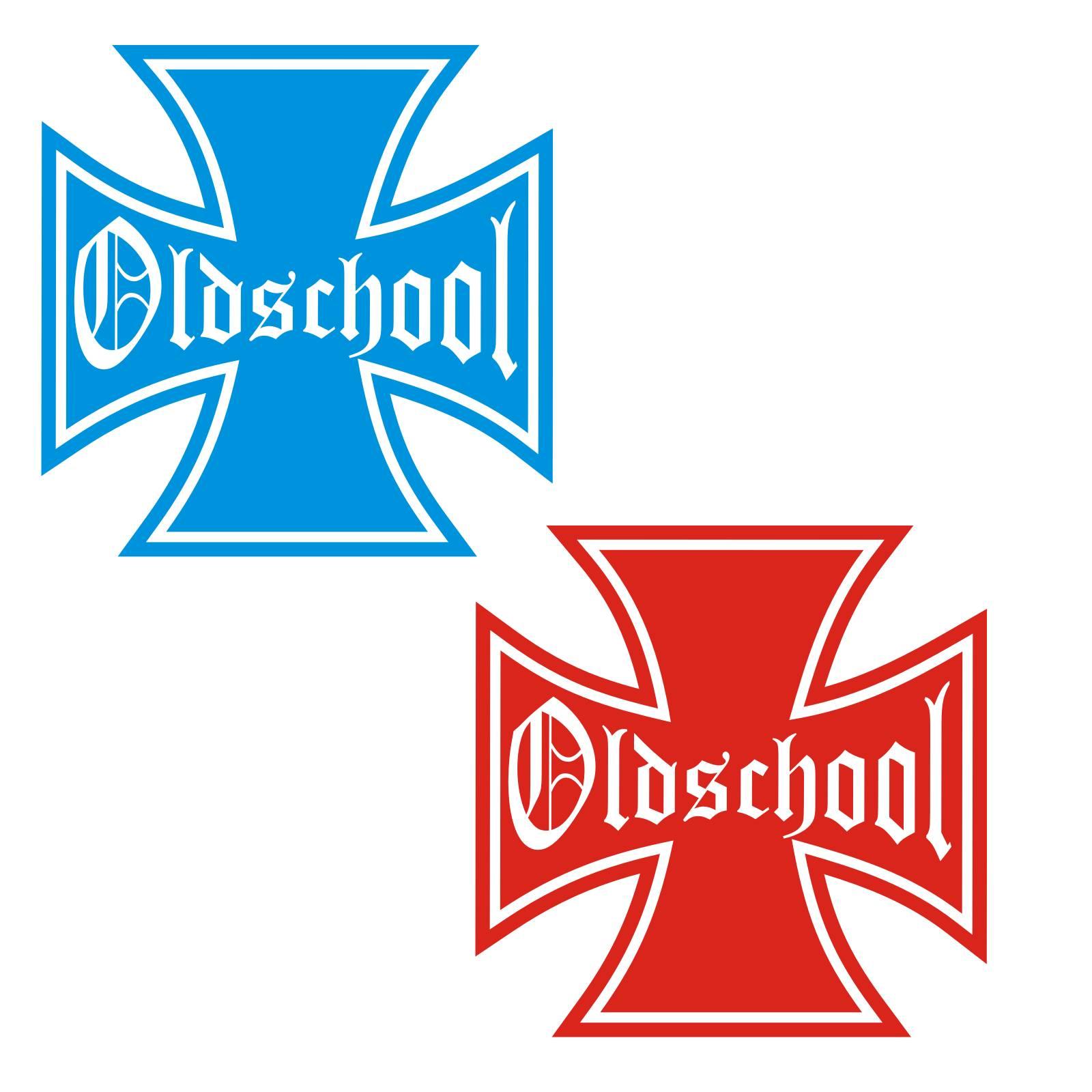 Eisernes Kreuz Oldschool Auto Aufkleber Motorhaube Sticker