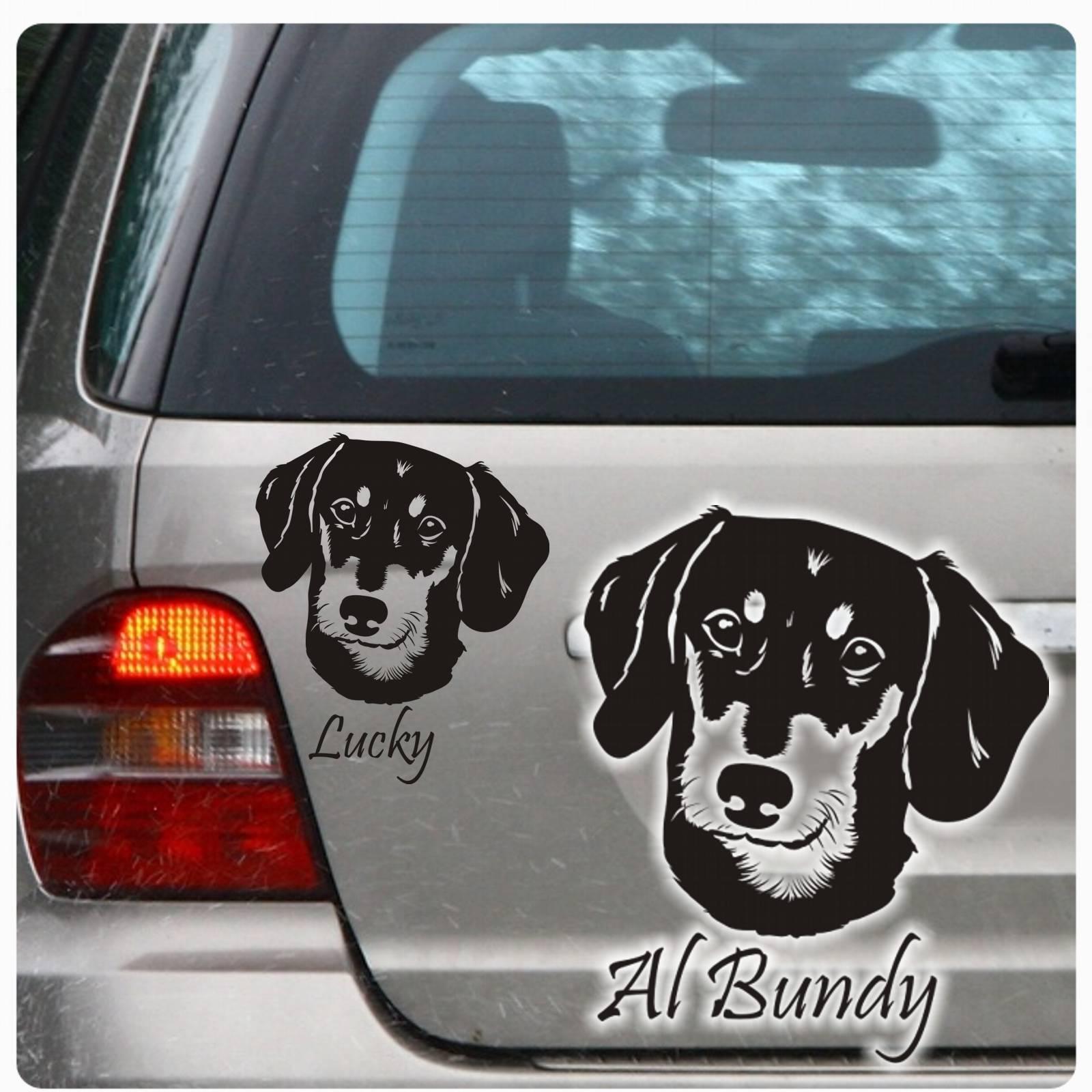 dackel name aufkleber autoaufkleber hund auto kurzhaar sticker teckel a1622 ebay. Black Bedroom Furniture Sets. Home Design Ideas