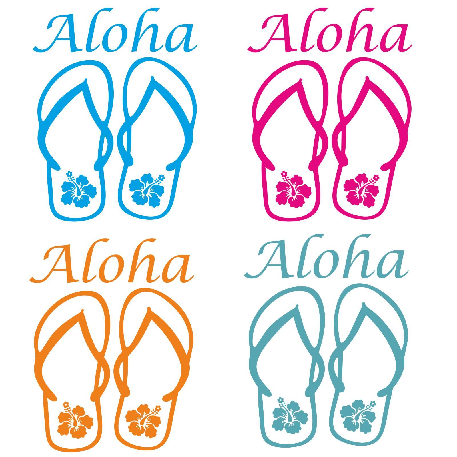 hibiskus hawaii sandalen aloha auto aufkleber autoaufkleber sticker blumen a319 ebay. Black Bedroom Furniture Sets. Home Design Ideas