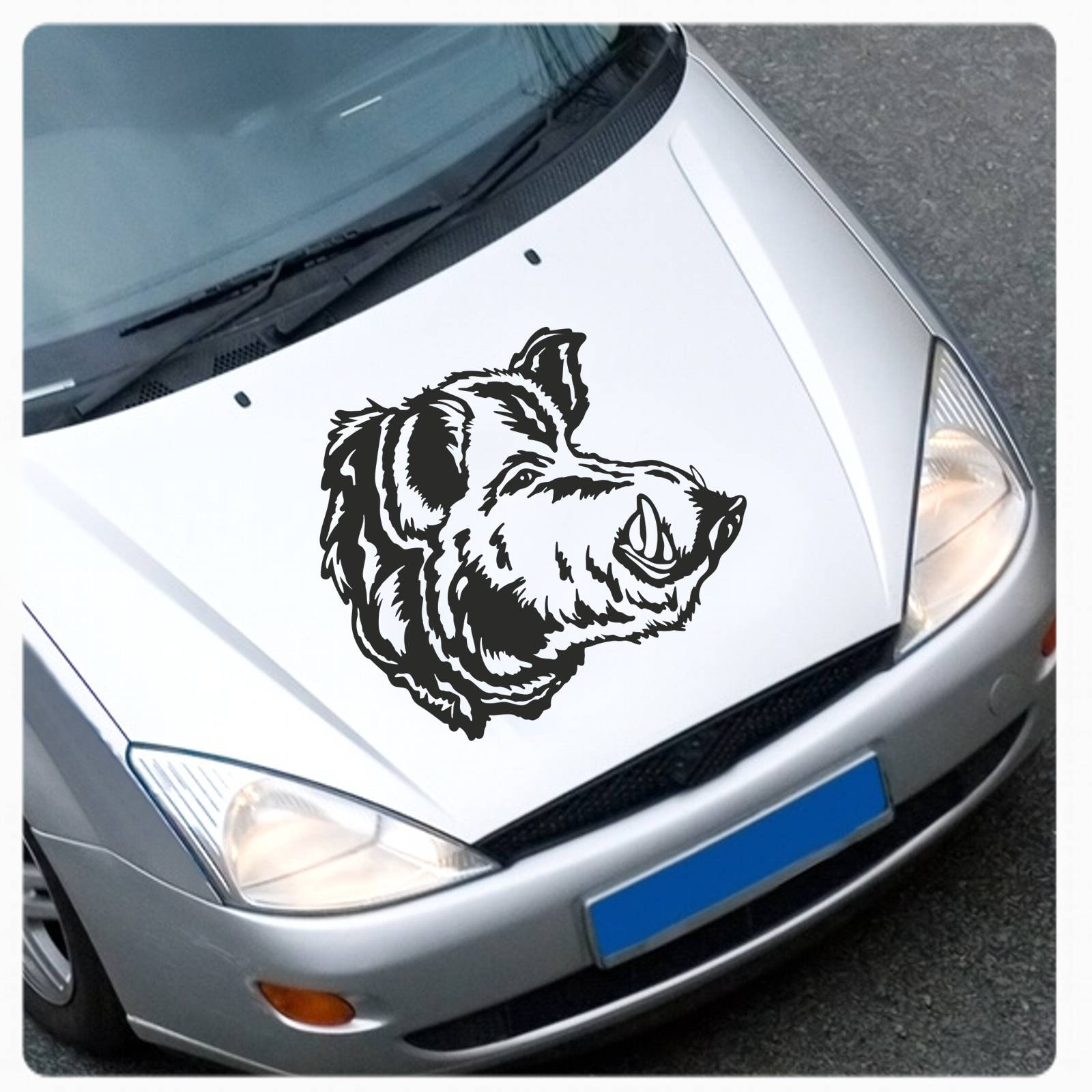 Keiler Wildschwein Wildsau Autoaufkleber Auto Aufkleber Motorhaube
