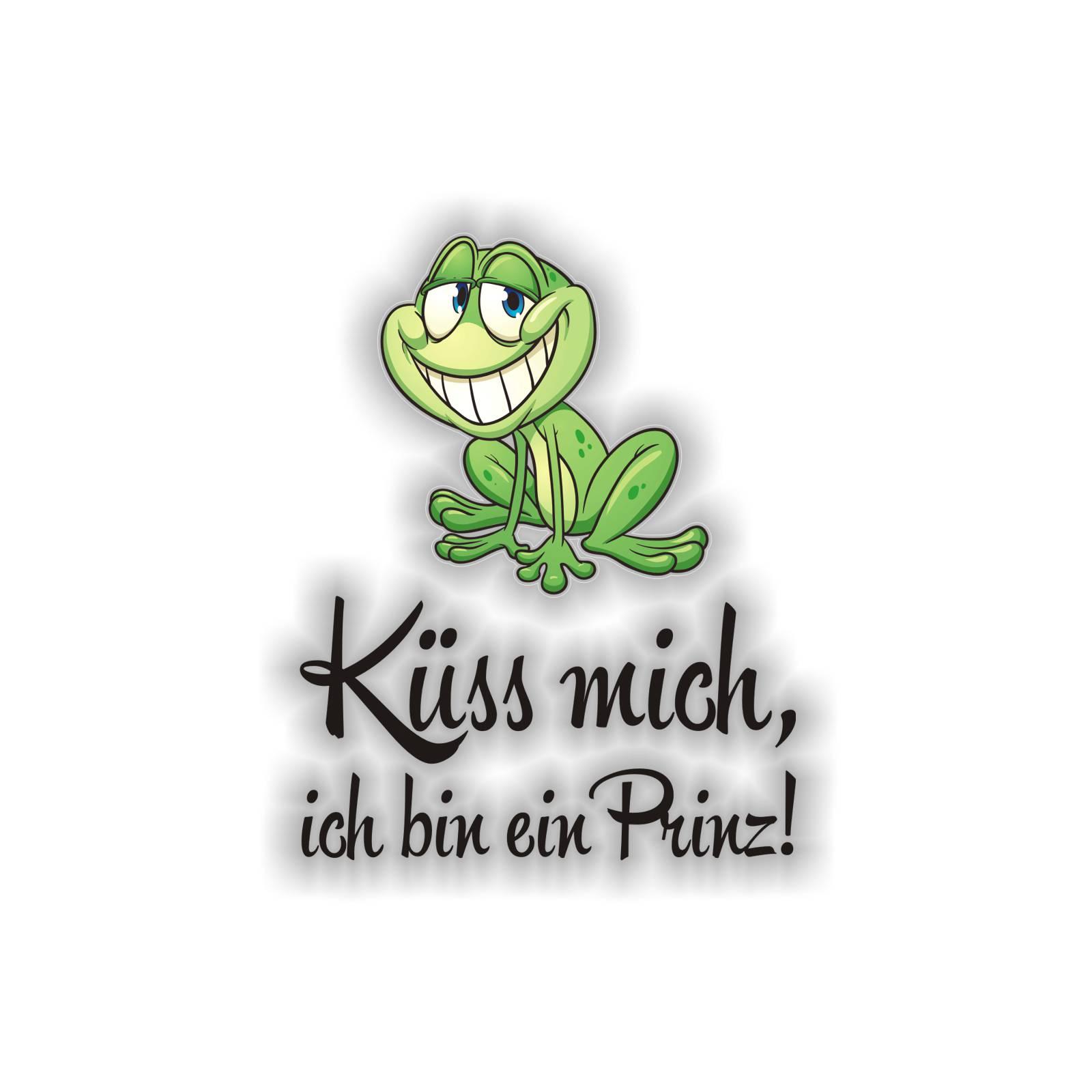 Frosch Küss mich, ich bin ein Prinz! Autoaufkleber Auto