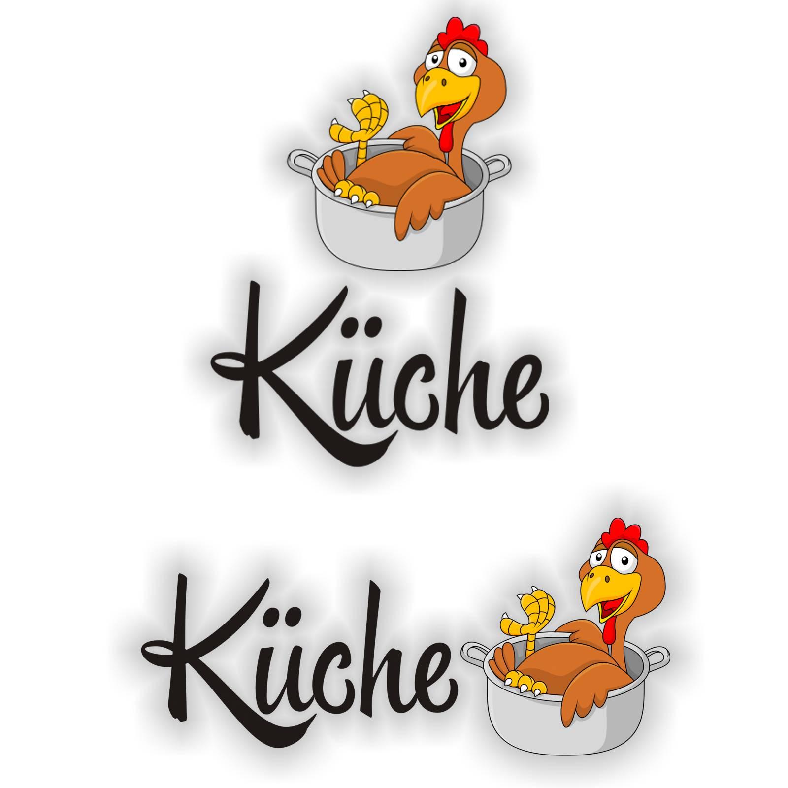 Türaufkleber Huhn im Topf Küche Digitaldruck Wandtattoo Türtattoo ...