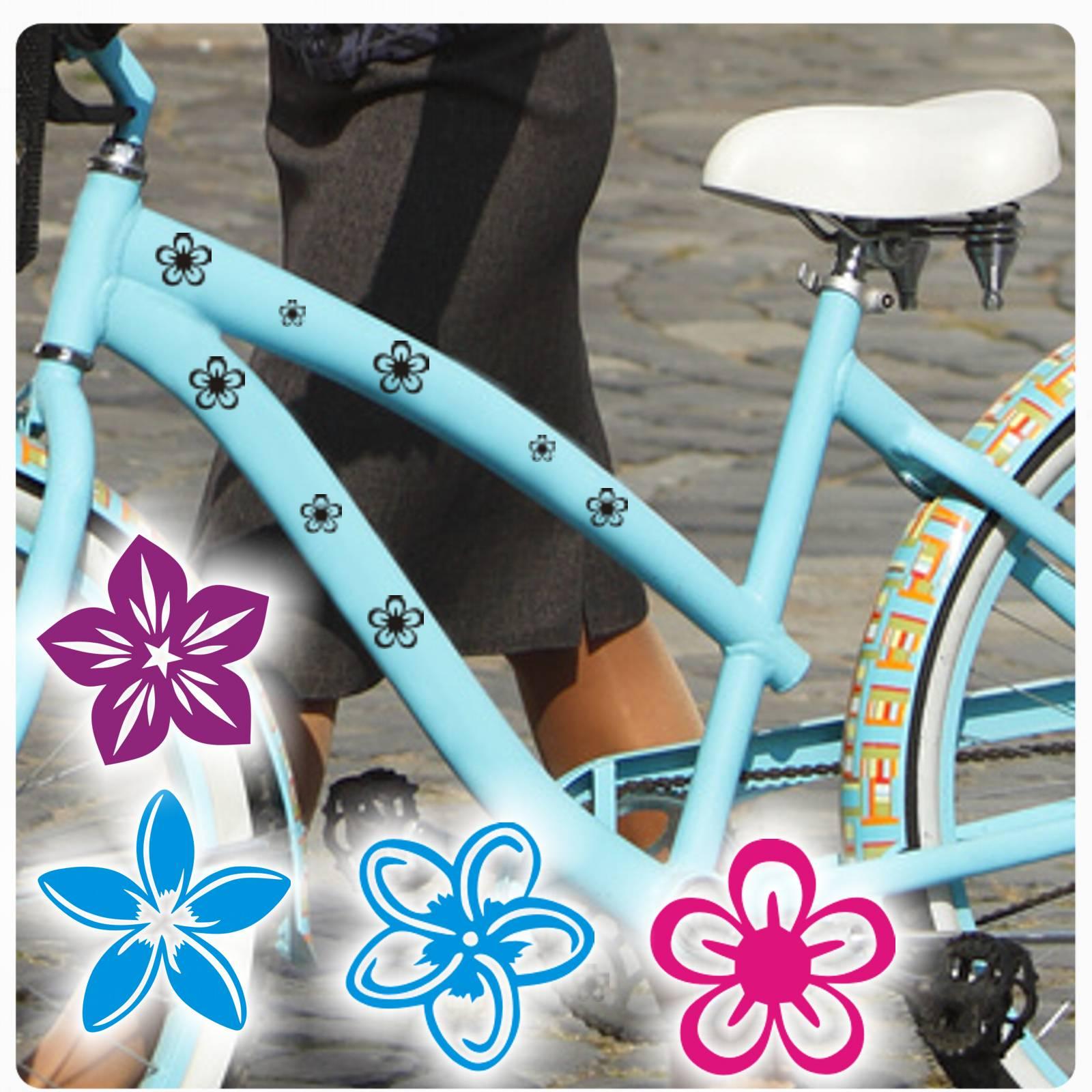 blumen bl ten fahrradaufkleber fahrrad aufkleber sticker hibiskus hawaii f002 ebay. Black Bedroom Furniture Sets. Home Design Ideas