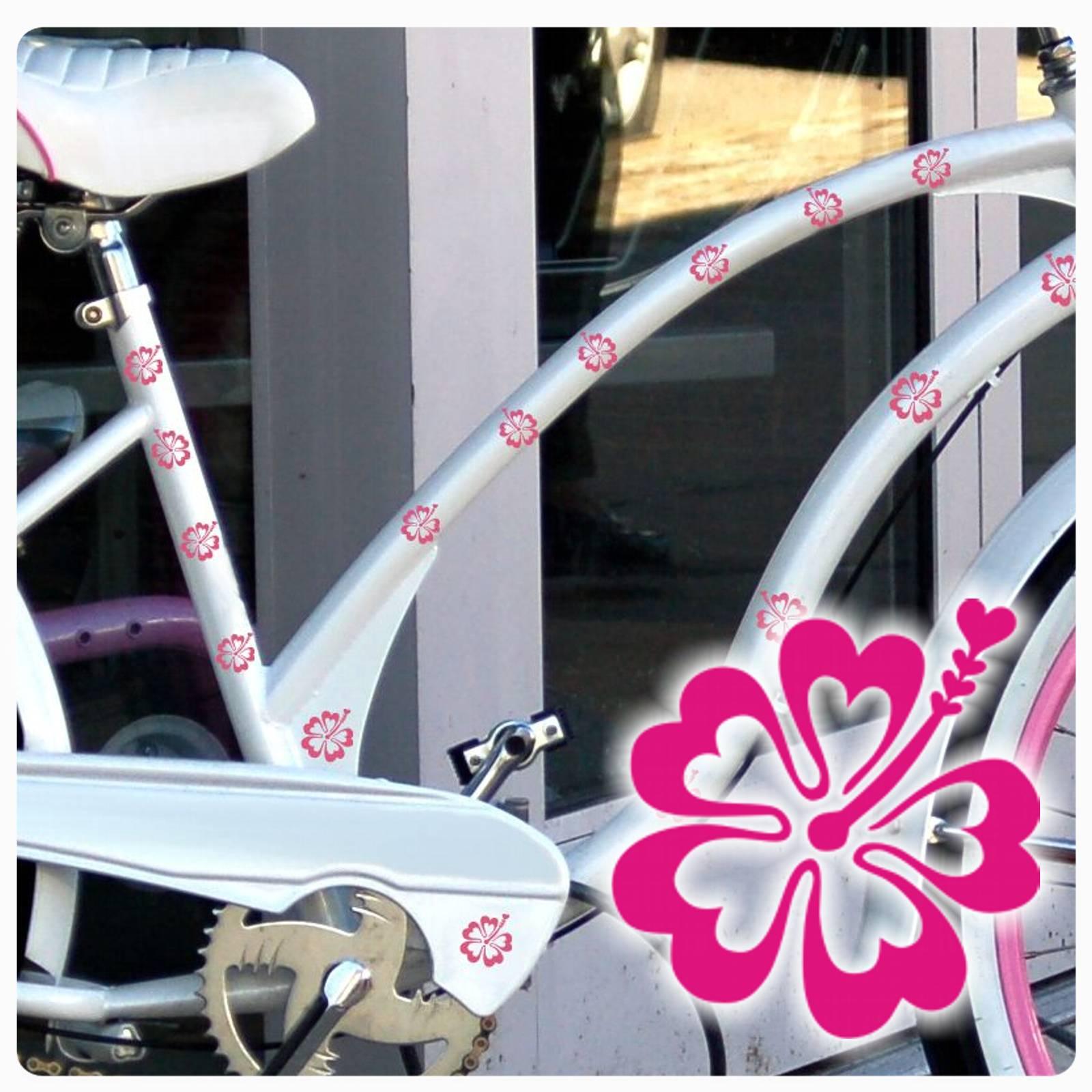 fahrradaufkleber hibiskus hibiscus blume bl ten fahrrad aufkleber sticker f019 ebay. Black Bedroom Furniture Sets. Home Design Ideas