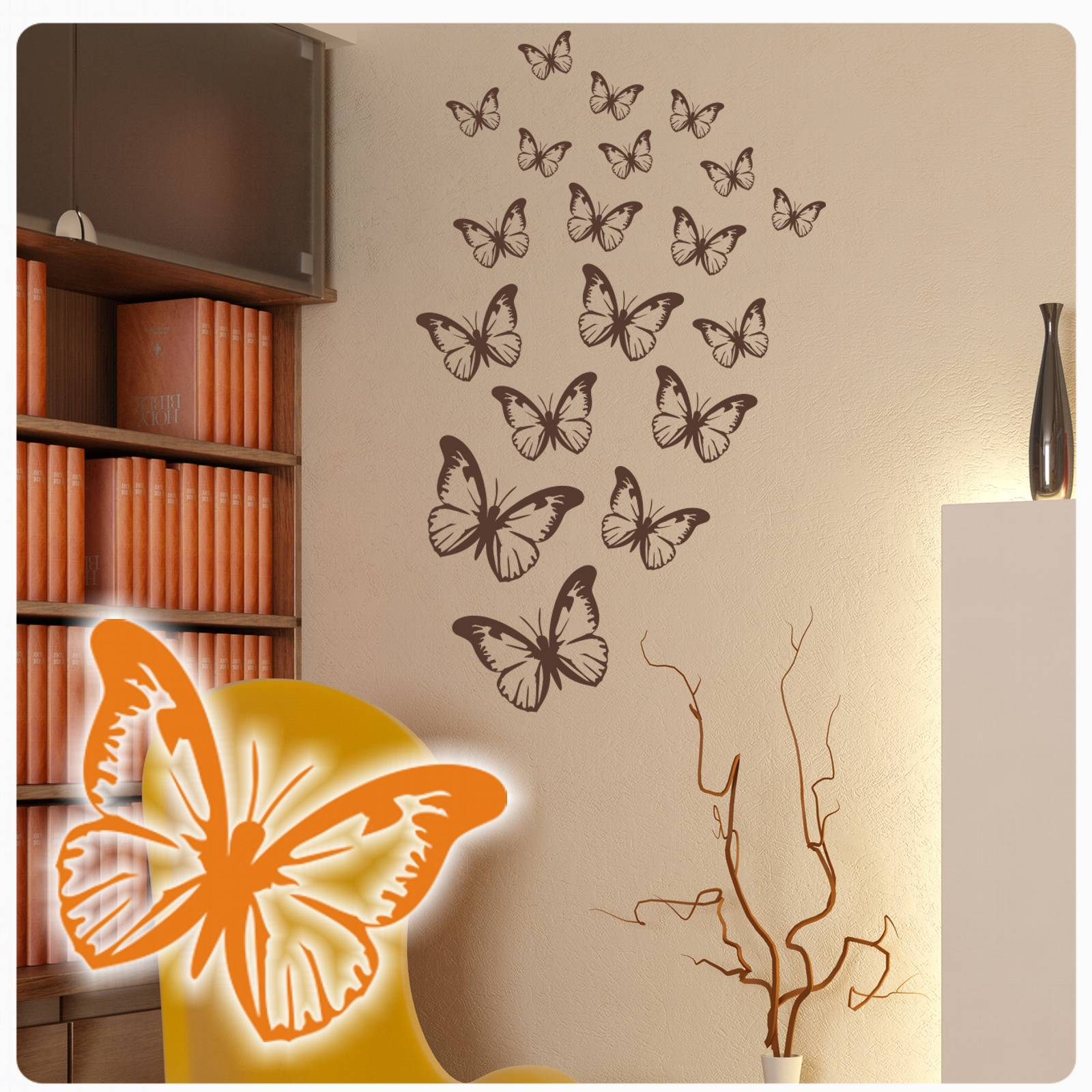 Wunderbar Wandtattoo Schmetterling Foto Von Schmetterlinge Wandaufkleber Aufkleber Set
