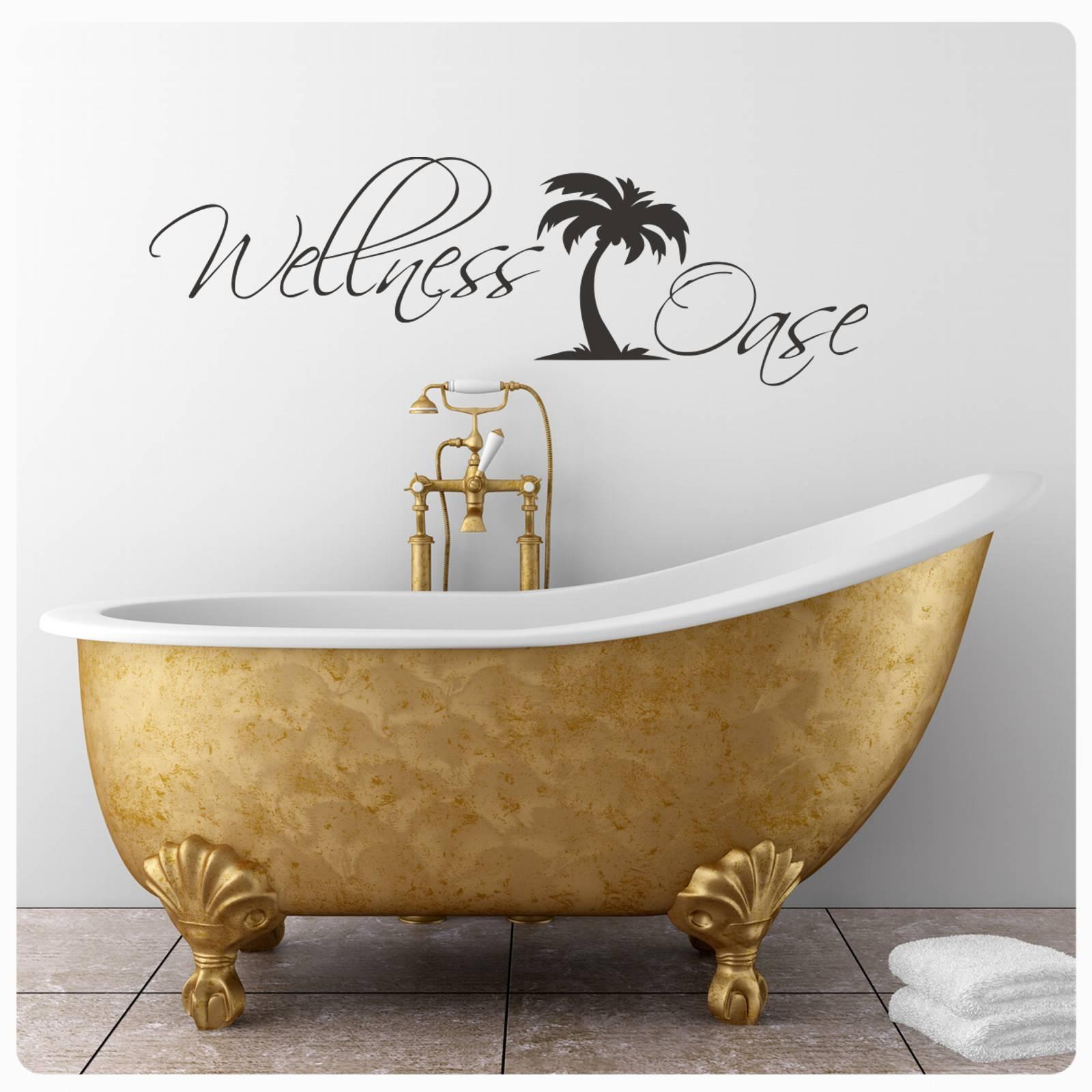 Details zu Wandtattoo Wellness Oase Wandaufkleber clickstick Bad WC  Badezimmer Lounge W10