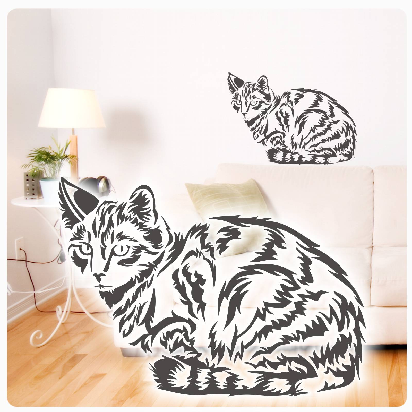 Wunderbar Wandtattoo Katzen Referenz Von Tigerkatze Katze