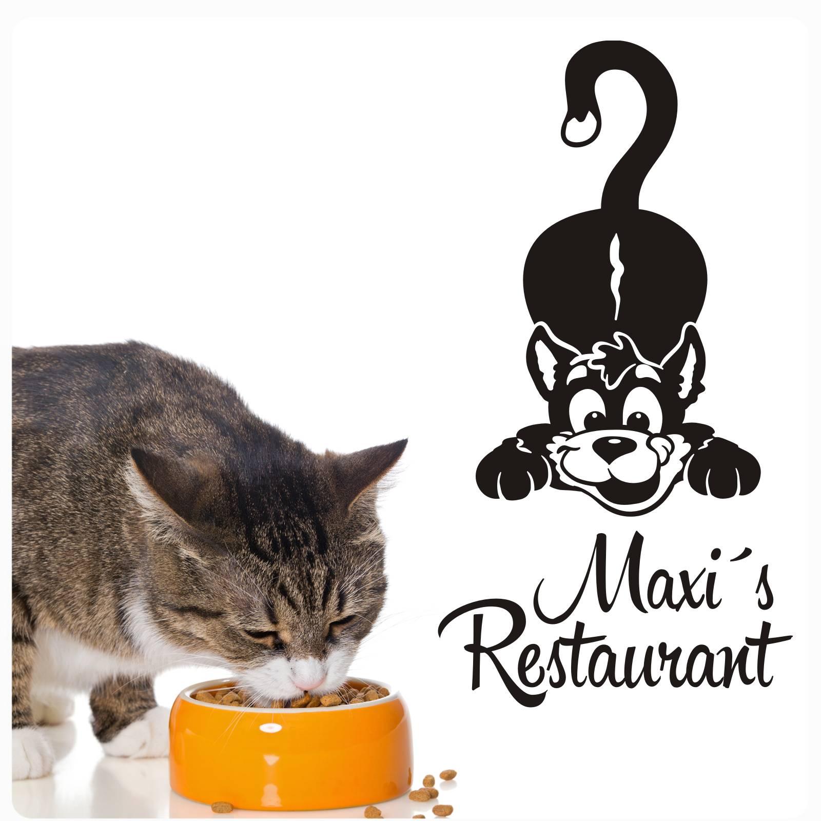 Beeindruckend Wandtattoo Katzen Foto Von Wunschname Katze Restaurant