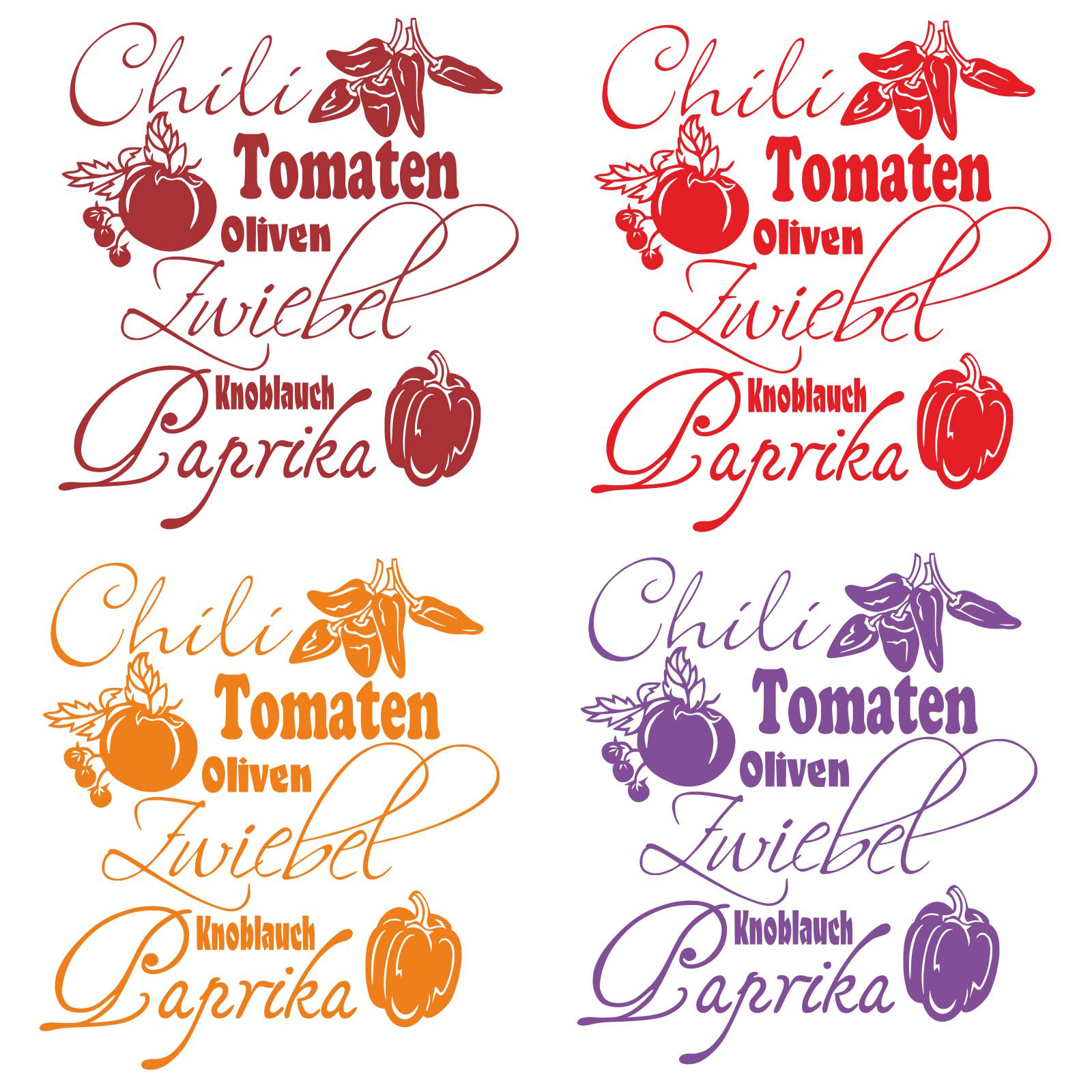 wandtattoo gem se sorten wandaufkleber k che bad tomaten. Black Bedroom Furniture Sets. Home Design Ideas