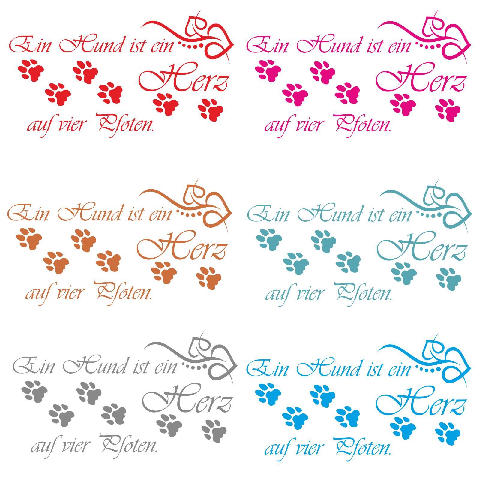 Wandtattoo Hund Herz 4 Pfoten Irische Weisheit Hunde Mops
