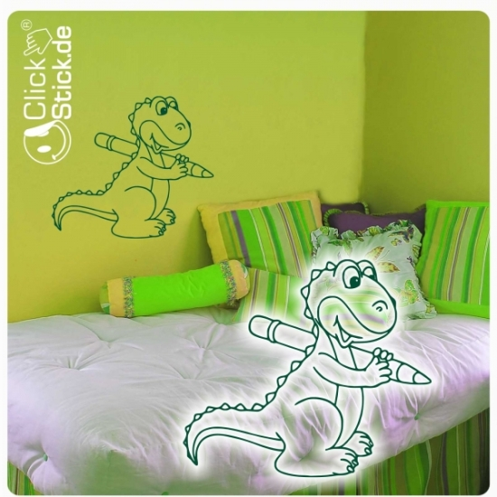 w1318 wandtattoo dino dinosaurier wandaufkleber kind. Black Bedroom Furniture Sets. Home Design Ideas