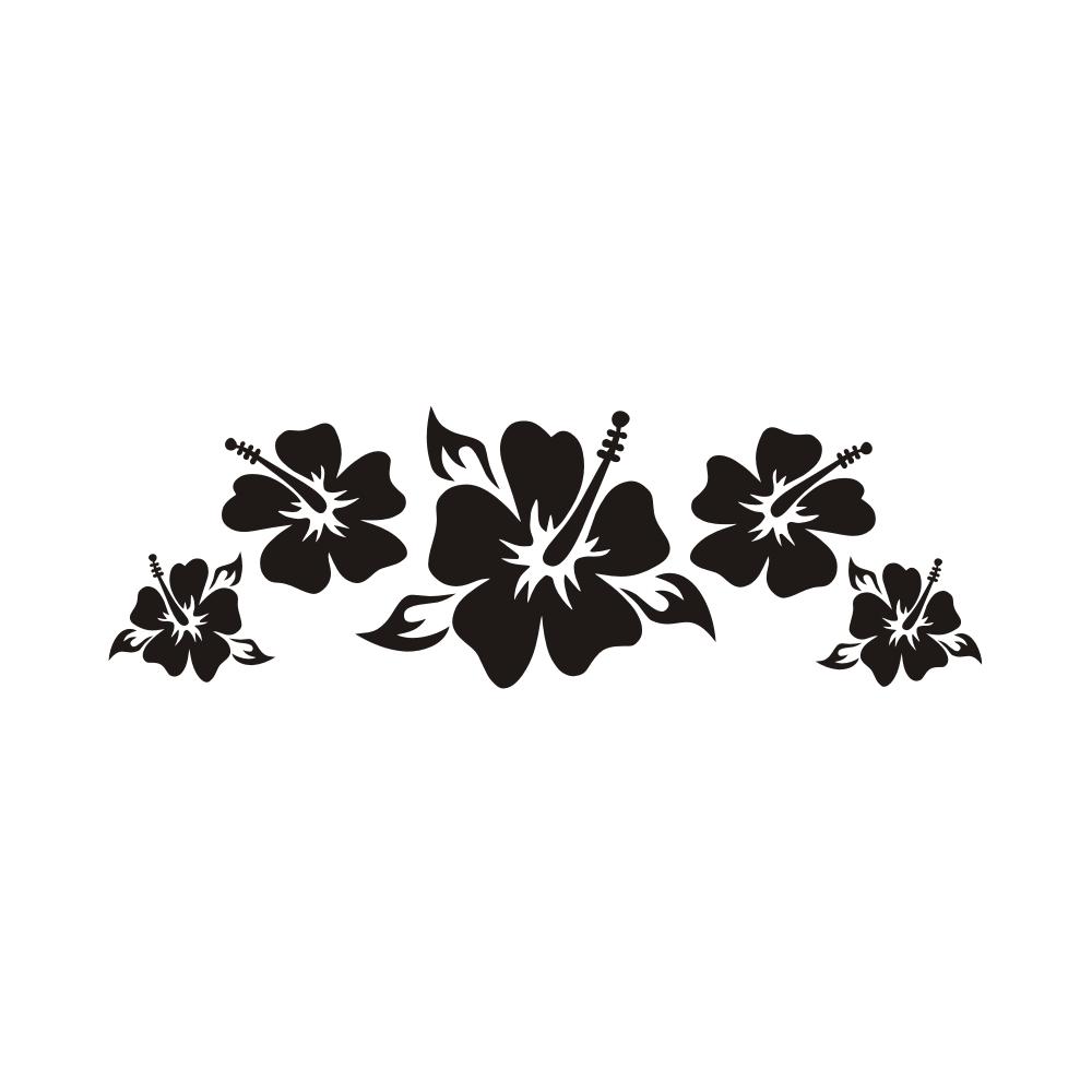 a1044 hibiskus blumen blume auto aufkleber surfboard sticker. Black Bedroom Furniture Sets. Home Design Ideas