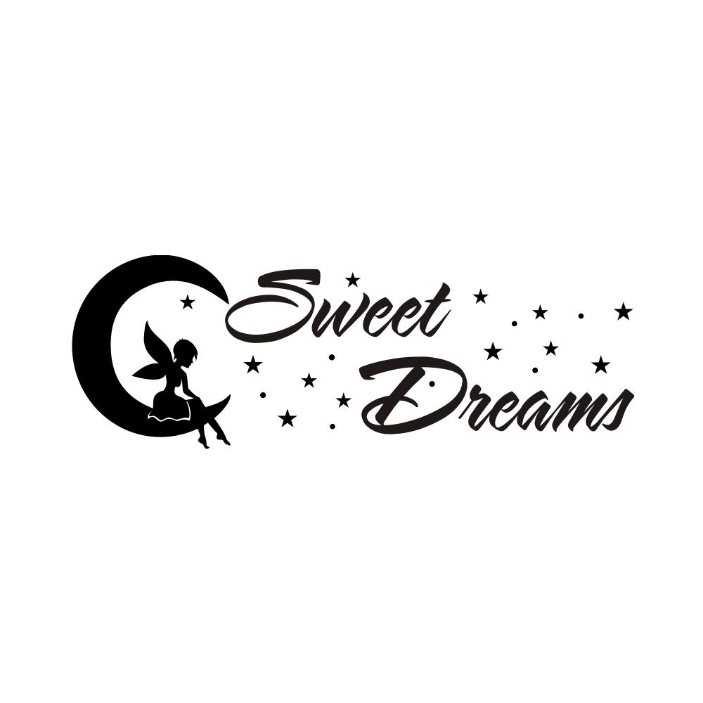 w1715 wandtattoo sterne fee sweet dreams wandaufkleber. Black Bedroom Furniture Sets. Home Design Ideas