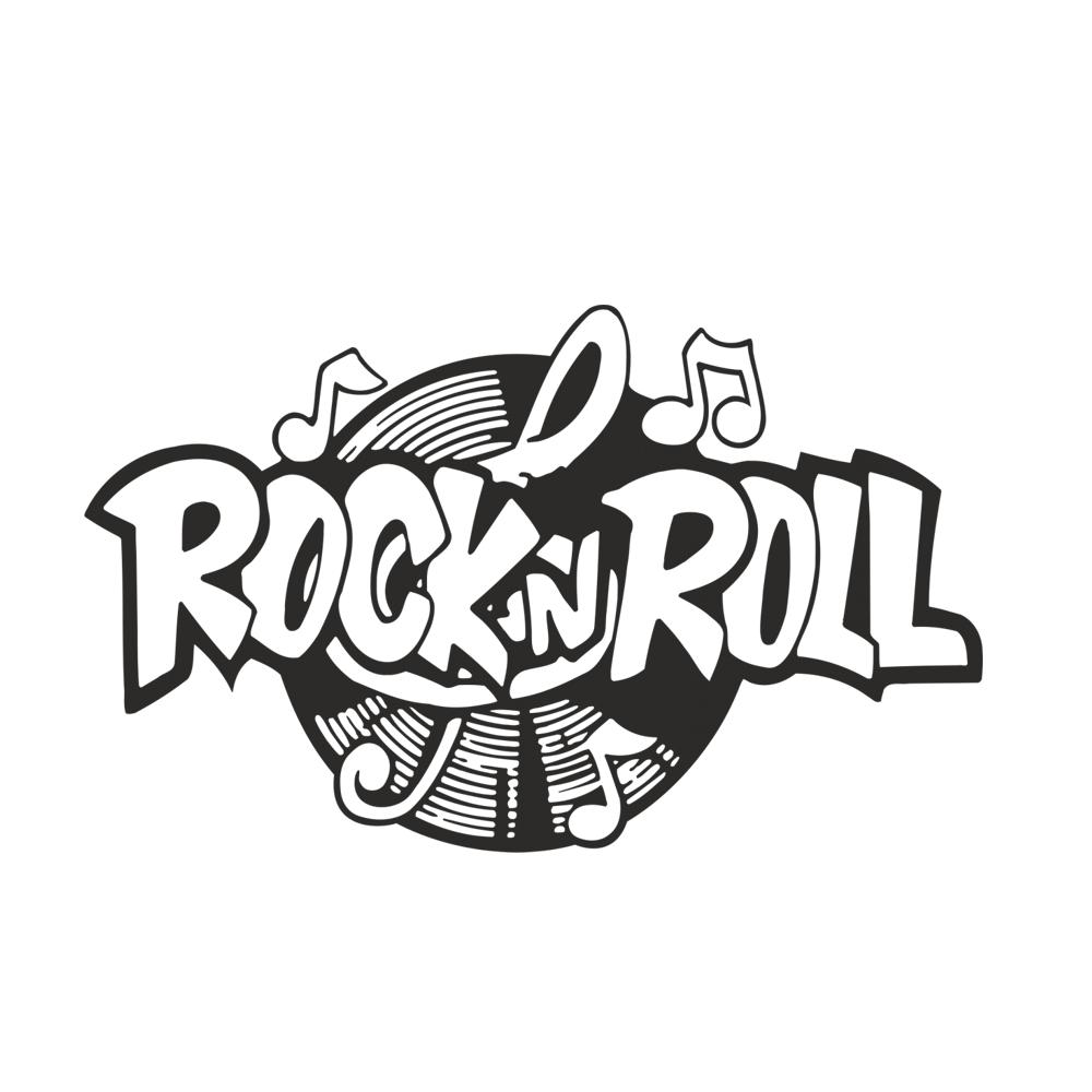 rock n roll schriftzug
